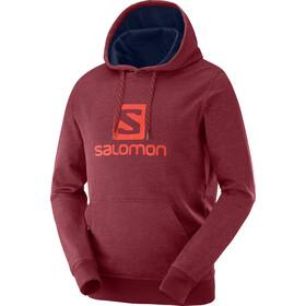 Salomon Logo Hoodie Herren biking red